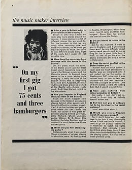 jimi hendrix magazine/music maker interview part 3