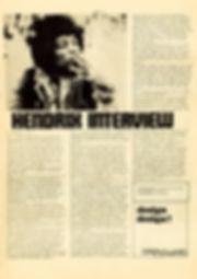 jimi hendrix newspaper 1968/superlove march  1968 interview