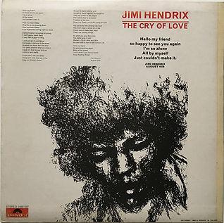 jimi hendrix vinyl album lp/cry of love 1971 greece