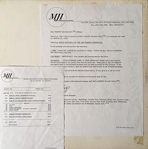 jimi hendrix vinyls album / mji broadcasting  march 23, 1992