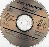 jimi hendrix bootlegs cds/live in paris / the swingin'pig  1989 tsp cd 016