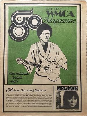 jimi hendrix newspapers 1969 / go october 3 1969