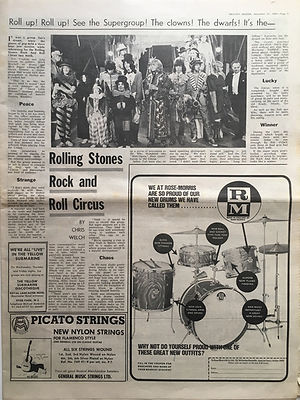 jimi hendrix newspaper 1968/melody maker december 21 1968