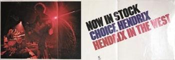 jimi hendrix memorabilia 1972  /ad hendrix in the west reprise records