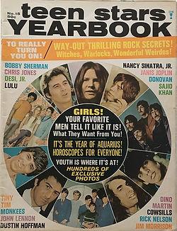 jimi hendrix magazines 1969/teen stars yearbook 1969