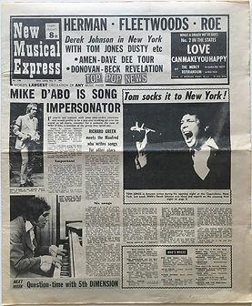 jimi hendrix newspaper 1969/new musicl express may 31 1969