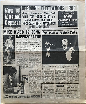 jimi hendrix newspaper 1969/new musicl express may 31 1969