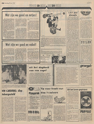 jimi hendrix newspaprs 1967/ het parool june 24, 1967