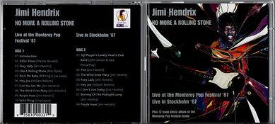 jimi hendrix collector bootlegs cd/jimi hendrix no more a rolling stone/2 cd purple haze records/