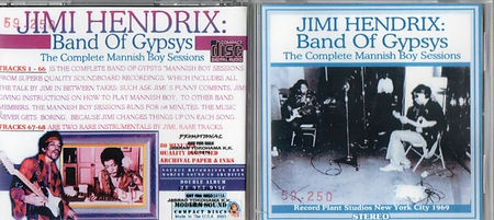 jimi hendrix bootlegs cds 1969/band of gypsys the complete mannish boy sesions