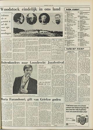 jimi hendrix newspapers 1970 / de stem  june 8, 1970