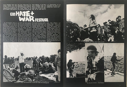 jimi hendrix collector magazines 1970/ pop november 1970 / war festival