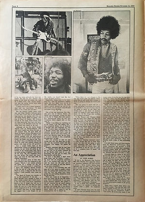 jimi hendrix newspapers 1970 / rolling stone :  october 15  1970 / part 4