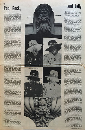 jimi hendrix newspaper/1968 march 8/ the village other