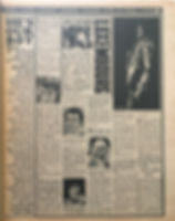 jimi hendrix newspaper/fabulous 208/ april 4 1968