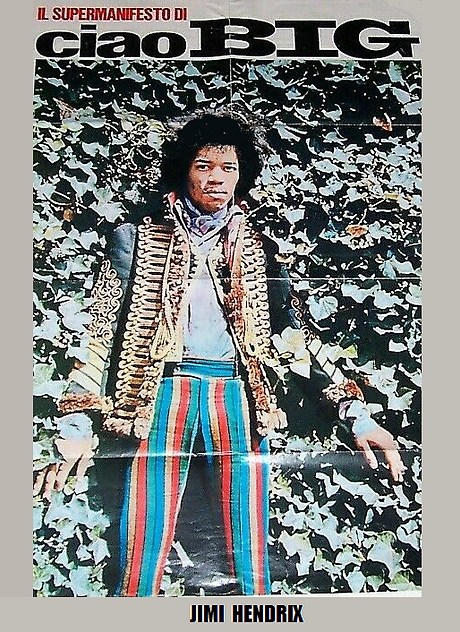 jimi hendrix magazines collector /  ciao big n°48 december 1967