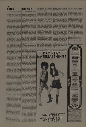 jimi hendrix newspapers 1969/the east village other dec. 17, 1969/ AD : concert band of gypsys: dec.31, 1969