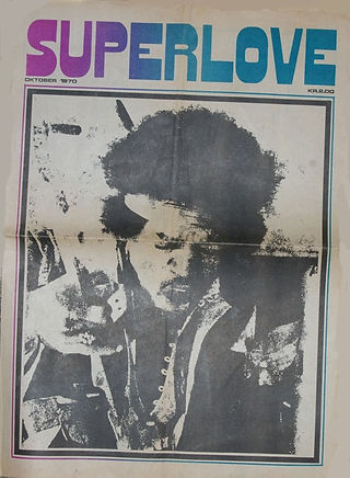 jimi hendrix newspapers 1970 / superlove  october 1970
