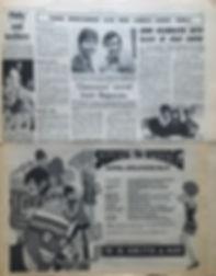 jimi hendrix newspaper/30/3/68 new musical express/ ad smash hits w.h smith & son
