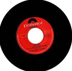 jimi hendrix collector EP/vinyls/maxi singles/ sideB  hey joe/watchtower  1970 italy polydor