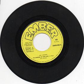 side b / the sunshine of your love part2 / jimi hendrix vinyls singles 1972 portugal