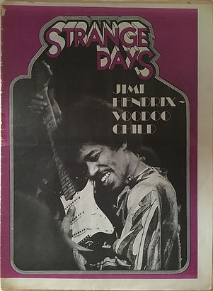 jimi hendrix newspapers 1970 / stange days october 9,1970 /