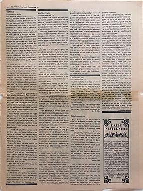 jimi hendrix newspaper 1970 / rock march 16 1970