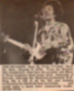 jimi hendrix newspaper/review:hear my train a'coming/rock me baby