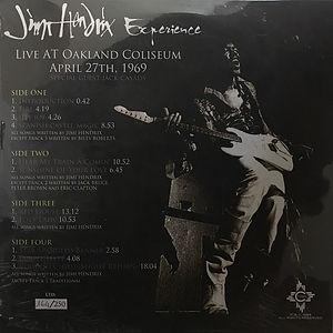 jimi hendrix vinyl album bootlegs/live at oakland coliseum 2lp
