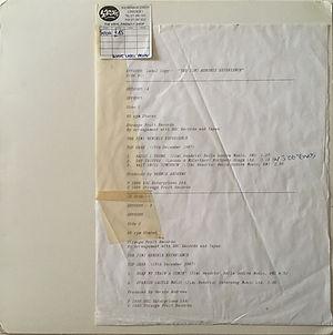 jimi hendrix vinyls album / test pressing : the peel sessions