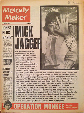 jimi hendrix rotily patrick newspapers/melody maker 7/7/67