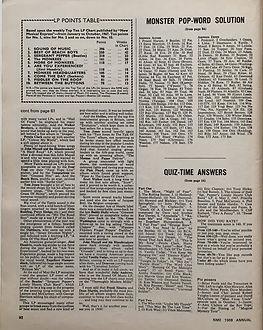jimi hendrix magazine/lp poins table