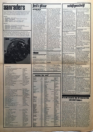 jimi hendrix newspaper 1968/hit week / november 23 1968 / electric ladyland
