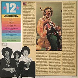 jimi hendrix vinyls LP / reader's digest 1979