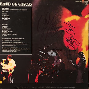 jimi hendrix collector vinyls /band of gypsys (signed by buddy milles and billy cox /  england  1983