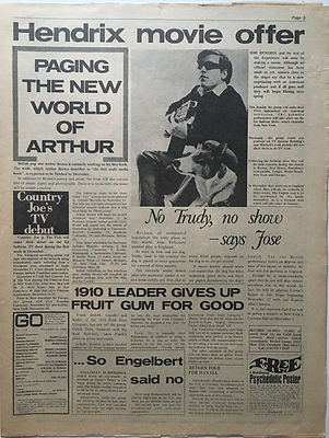 jimi hendrix newspaper 1968/go november 8 1968/hendrix movie offer