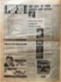 jimi hendrix newspaper/top ten lps smash hits N°7