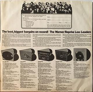 jimi hendrix collector/ inside cover reprise records
