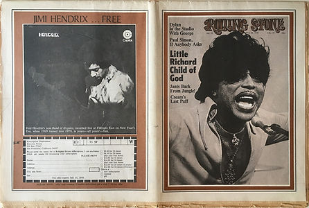 jimi hendrix newspapers 1970 / rolling stone  may 28, 1970