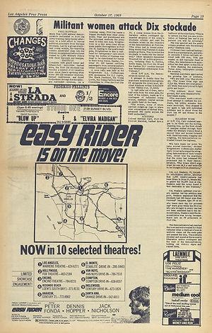 jimi hendrix newspapers 1969/los angeles free press october 17, 1969