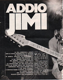 jimi hendrix magazines 1970 death/ciao 2001 sept 30, 1970 / addio jimi