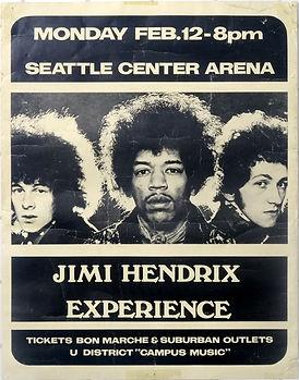 jimi hendrix memorabilia1968 / ad concert 1968 jimi hendrix experience