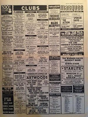 jimi hendrix newspaper 1967/melody maker february 4 1967