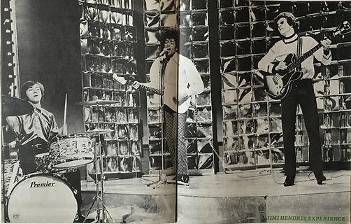 jimi hendrix collector magazine/pop  foto february 1968 poster jimi hendrix experience