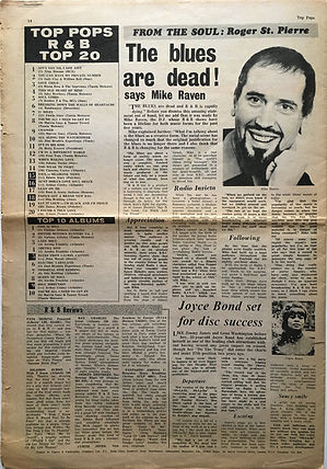 jimi hendrix newspapr 1968/top pops r&b top 20