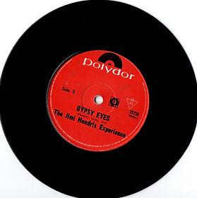 jimi hendrix collector singles vinyls 45rdn/gypsy eyes side2/polydor new zealand 1968