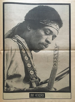 jimi hendrix newspapers: soul november 8, 1970 / poster