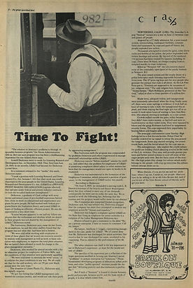jimi hendrix newspaper 1969/the bird great speckled 7 /7 69