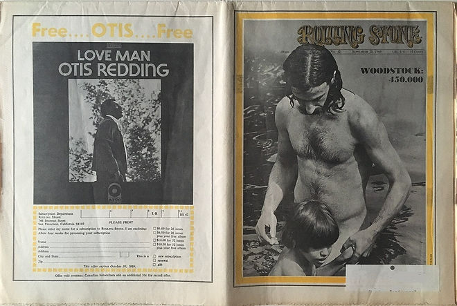 jimi hendrix newspapers 1969/ rolling stone : woodstock 450.000