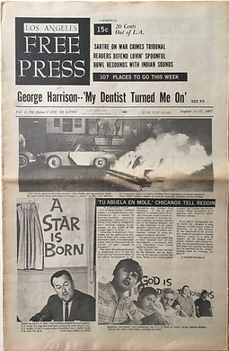 jimi hendrix newspapers collector/free press los angeles 11/8/67